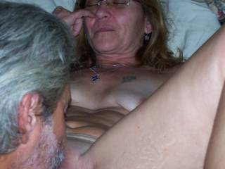 eating my wifes pussy while friend uses cam