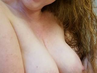 Would you like to lay your head on my soft full tits?  Or do you have something else for me?