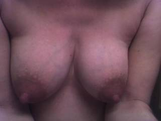 My hubby and i love your pics, great tits would like a woman to play with?