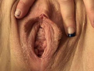 My pussy is ready for a nice hard fat cock to enter.... cunt wait for my hubby to get home and fill it up for me.