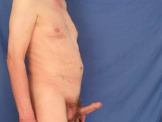 I enter the bedroom and see you waiting for me on the bed naked...almost at once my erection appears totally unaided.