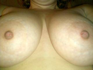 Your tits are so very nice!!! I want to rub my big cock and cum on them