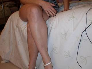 Ooohhh Yessssssssss looking so very Sultry Hottttt, Seductive, and Sexy as always!!  Such beautiful Sexy legs and magnificent luscious big naturals!! :-)