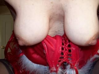 Love those mature breasts. I wanna suck on them.  :)