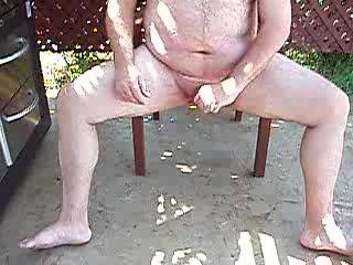 I'd love to be lying between your legs now, licking your balls and having you shoot your load all over my chest.  I love jerking off outside!