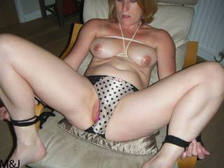 bound, tied up, pussy filled, and photographed, nothing I can do :-))