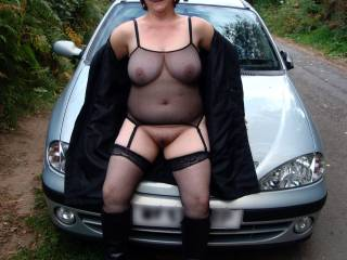 Put those lovely legs over my shoulders and let me fuck your cunt hard and fast as you lay across that bonnet. Xxx