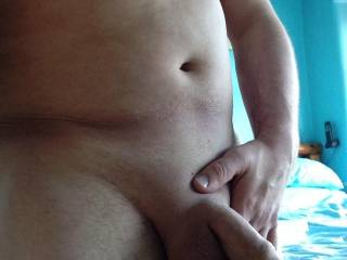 i love men that shave nice pic your balls look very full need any help unloading them