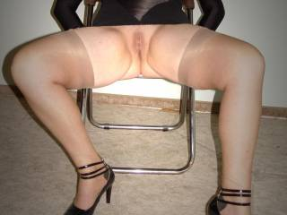 My nylons and new heels