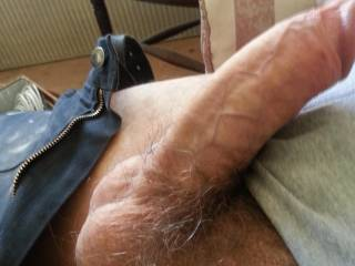 Riding your huge hard dick, feeling you hitting the bottom of my wet pussy as i bounce and moan like a bitch, draining your balls completely out of cum... Heaven!!!