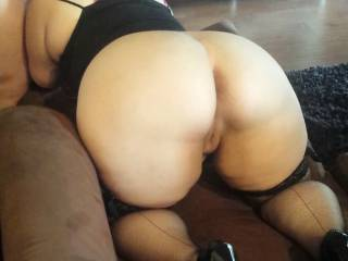 The amazing Vixxxen on all fours ,sucking me deep before we start a lil spank sesh. -Dddy