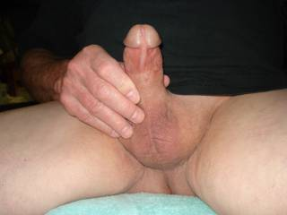 hard and ready to cum with a little precum