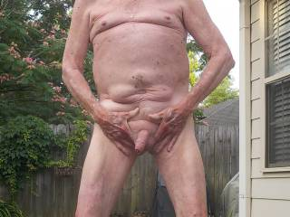 One of the best things of summer is being naked outside!