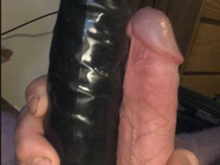 Husbands dick and my toy