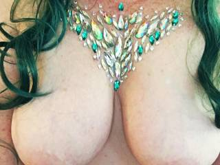 My hard nipples need a hot mouth