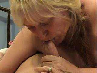 Shared Wife going down on a cock. I love cock in my mouth! My newest video shows my enjoyment of giving blowjobs.