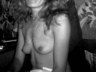 I love that smile and I don't think it will have changed that much today. The same goes for your pefect little titties, maybe a little lower today but I imagine they are every bit as sweet to suck on..and just as sensitive!