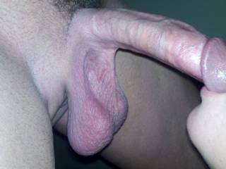 Nice cock, and I love those low-hanging balls.