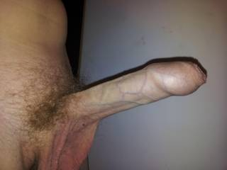 Mmm....would want to push that back with my lips to expose that swollen head, and see how deep i could get you.  I think i could beat the wife at this game!!