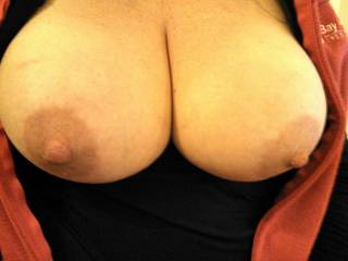 Mmmmmmm  I would love to suckle those beautiful breasts until you can't take it any longer and your purring and dripping wett all over my leg begging me to fuck you..;)