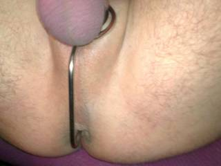 nice new cock and balls ring with a extention to shove up my ass