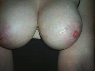 love to shoot my fucking cum on them. god those tits look so nice covered with spunk, love to watch her make em jiggle afterward