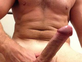 Very nice cock. Very suckable, love to feel that rock hard cock throbbing and cumming down my throat