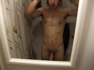 would love to see more of your dick up load some more pics please . nice and hard would be good
