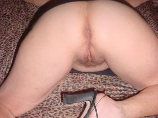 may i lick you till from behind till ur cum dribbles down your inner thighs first? then clean you up with my tongue before sliding my throbbing cock bollock deep inside you?