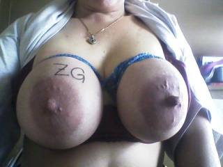 Wow...those are HUGE!!! I am so turned on right now!! I would blast a load of cum so fast on those!