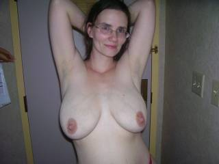 mmmmm I love your floppy sagging sexy tits babe.  You can dangle them in my face anytime you want to climb my pole.