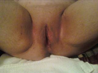 P,- freshly shaven  she is and wanting my manhood deep in all her openings