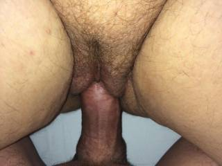 putting it in my hairy pussy