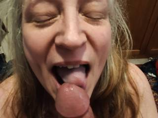One satisfied married woman after sucking a cock dry. Check out my video to view my enjoyment of cock.