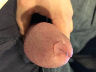 Women tell me they love precum, so here it is!  Would you taste it?