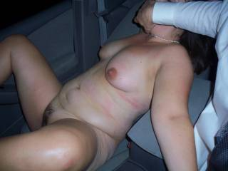 making her taste her own pussy juice while driving down the highway while she was stroking my cock
