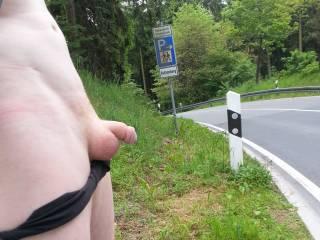 flashing tiny dick on public street