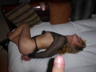 A gorgeous dick for a gorgeous woman... You are such a sexy couple!!!