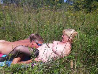 The sun was blinding me, he was licking and fingering me so had, I think I came at least five times, squirting every time!