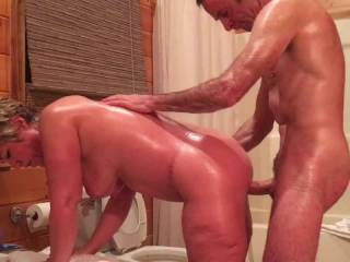 Slut Wendy getting pounded by her dom bull - she sends the video to her husband for his enjoyment.