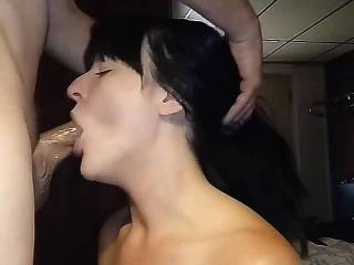This is another favorite slut, raven.  She loves to gag and slobber all over a cock!