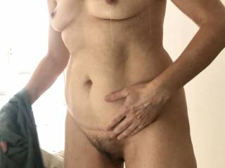 Robbing my hairy wet pussy !!! Like the view??