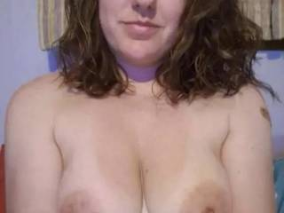 Slide your cock in between my titties
