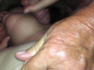While she took a rest from sucking my cock I rolled her nipple between my fingers