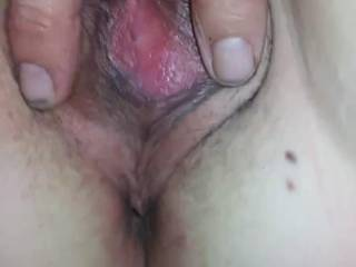 A thumb in my asshole and a tounge in my pussy is all I ask