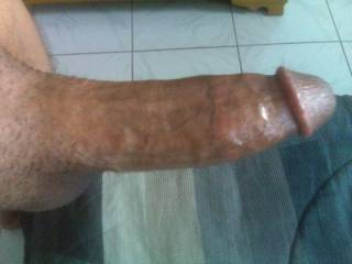 Side view of my thick dick. anyone wants to take a suck?