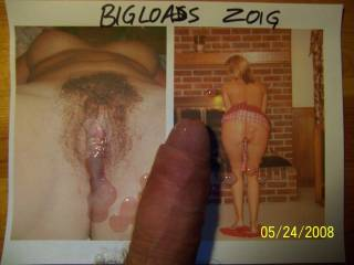 Mrs bigload\'s sweet hairy pussy and cute ass were just begging for a shot