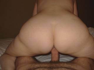 Reverse cowgirl! :-)  It looks like it could be you taking the pic :-)  Hope you like it :-)