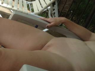 MMMMM I love outdoor pics and fun and your pussy looks amazing outdoors mmmmm, lucky hubby