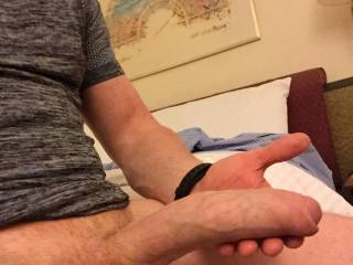 Big fat dick in a hotel room